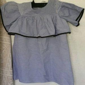 DOUUOD striped ruffle dress size 2